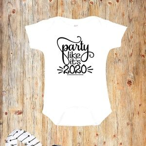 Party like it's 2020 New Year's Eve Baby Onesie